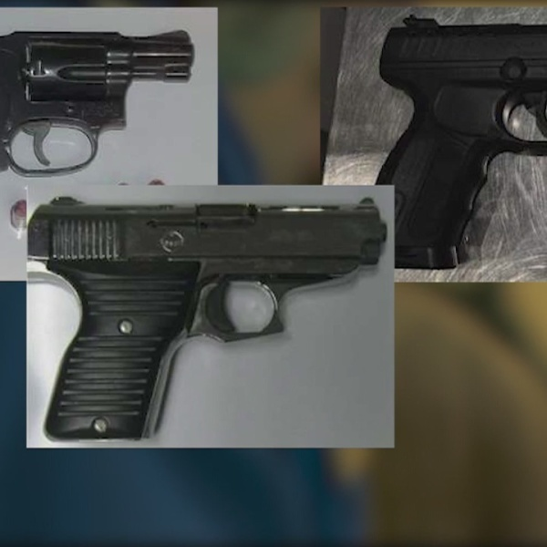 9 guns found at Bradley checkpoints in 2018