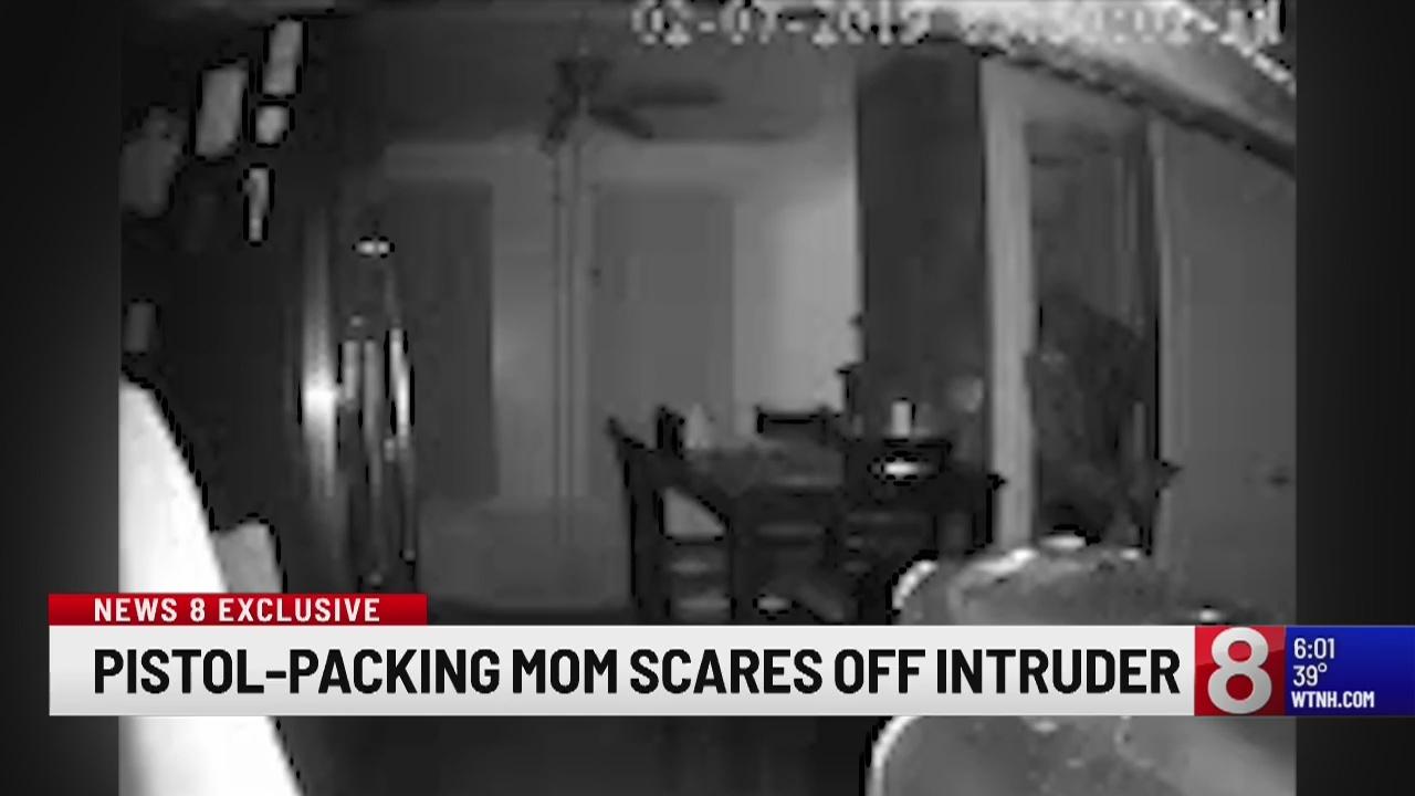 Gun-wielding mom scares off home burglar