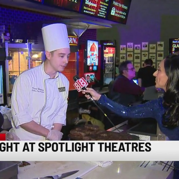Hitting up the Oscars party at Spotlight Theatres in Hartford