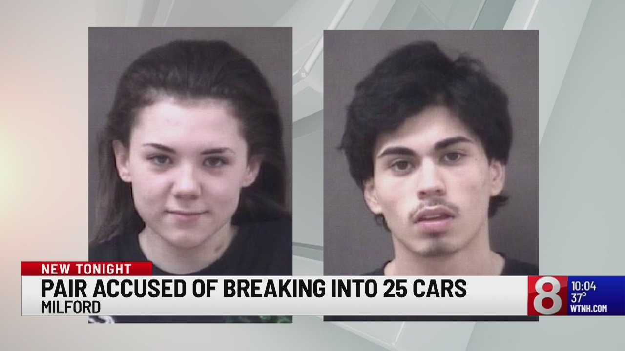 Milford police arrest 2 Stratford suspects linked to 25+ car burglaries
