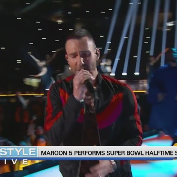 Today's Dish: Maroon 5 performs during Super Bowl Halftime Show