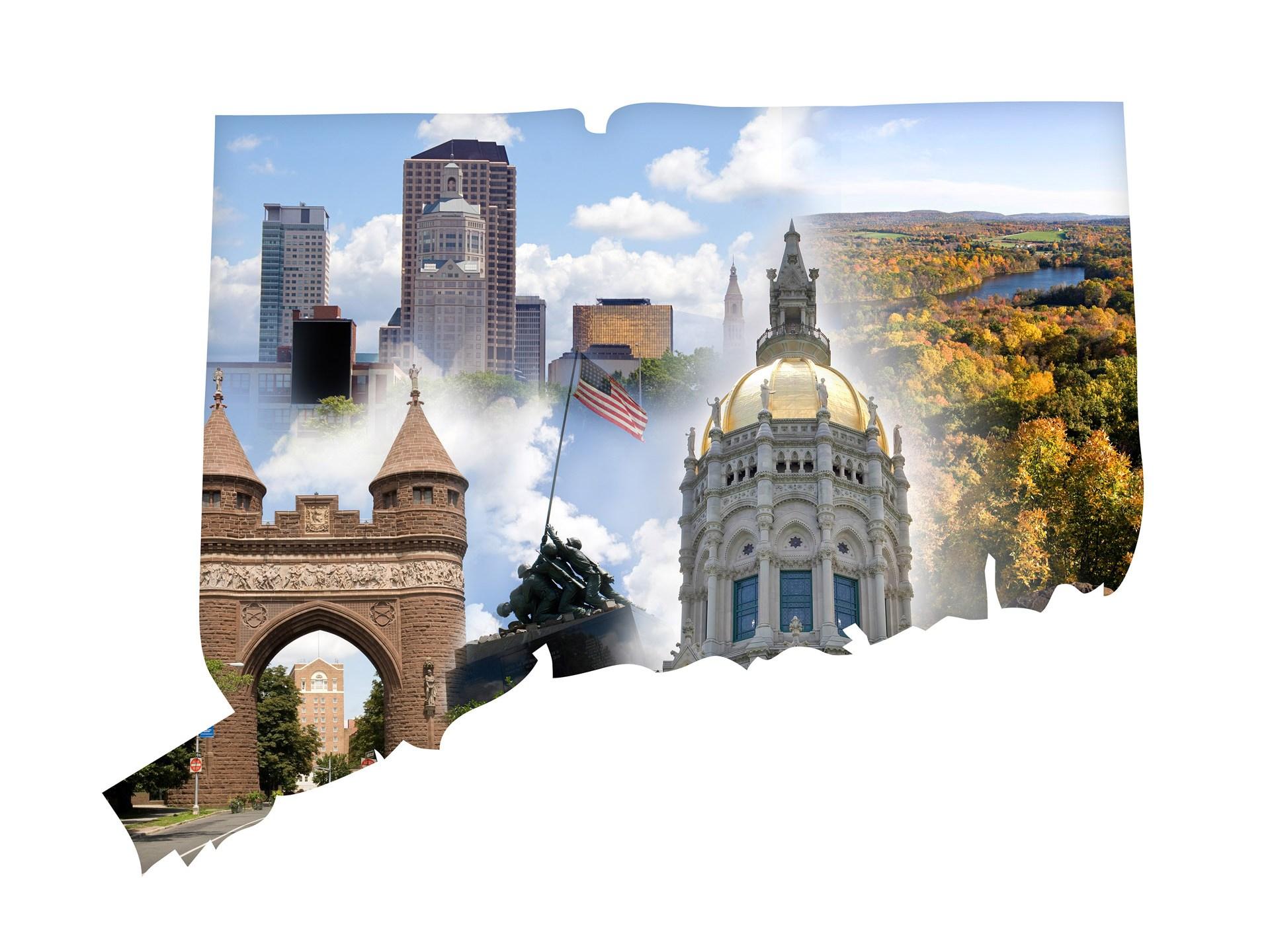 Connecticut Collage generic map