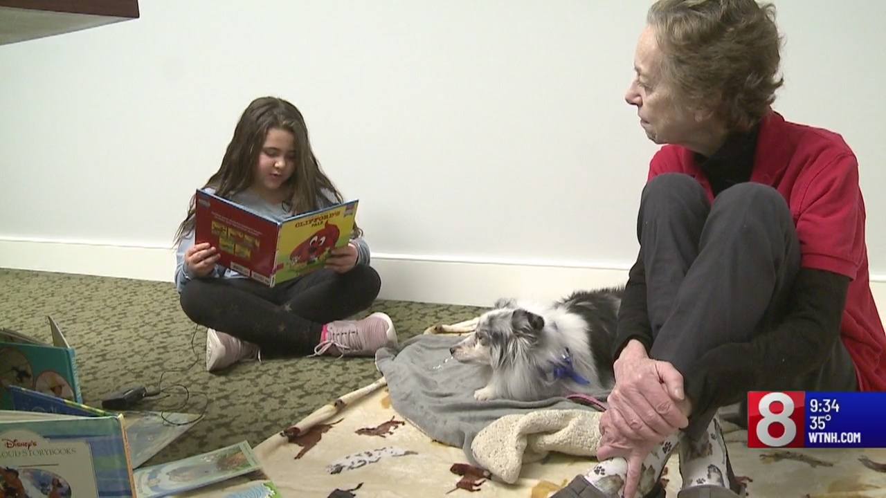 Cold Noses, Warm Hearts: Kids read to dogs to improve literacy skills