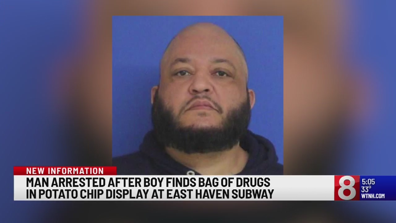 Connecticut man arrested after boy finds bag of drugs at an East Haven Subway