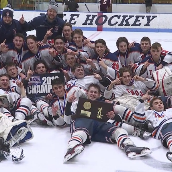 Crosstown rivals faced off for D3 hockey championship with interview