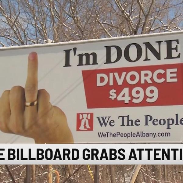 Divorce billboard grabs motorists' attention