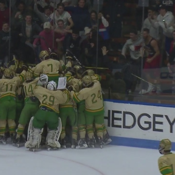 Notre Dame and Northwest Catholic Hockey semifinals with interview