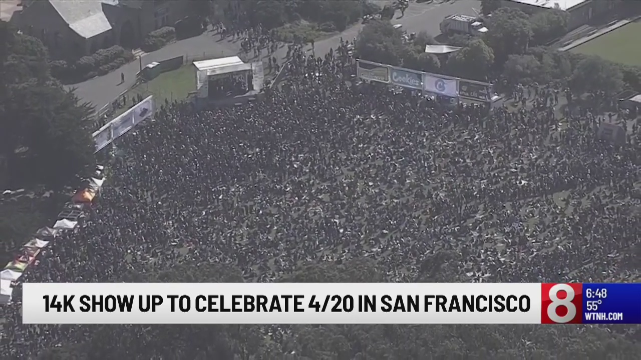 14,000 people show up to celebrate 4/20 in San Francisco