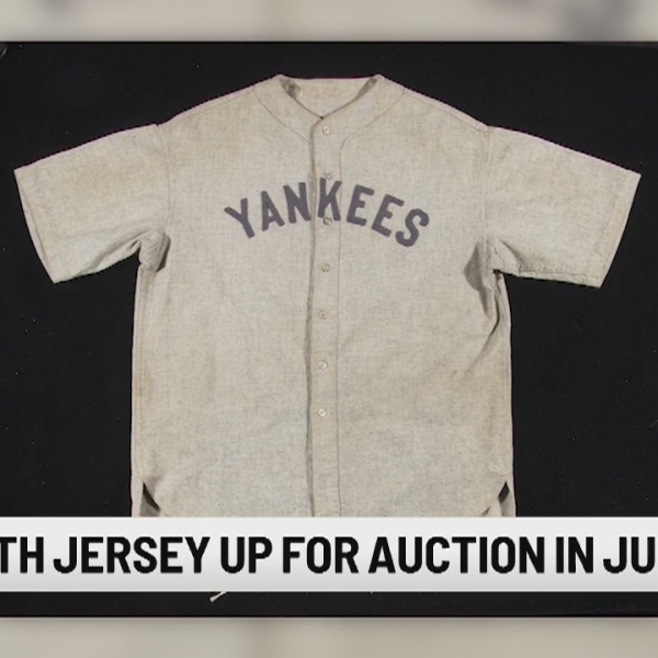 Babe Ruth jersey up for auction in June