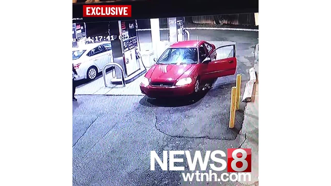 Exclusive: Gas station surveillance video before police