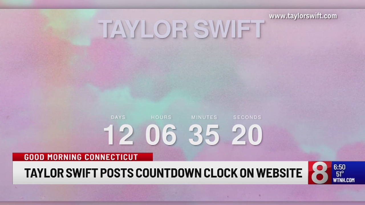 Taylor Swifts posts countdown clock on website