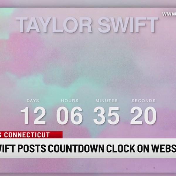 Taylor Swift posts countdown clock on website
