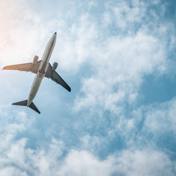 Commercial Airline Passenger Plane Takes Off At Airport