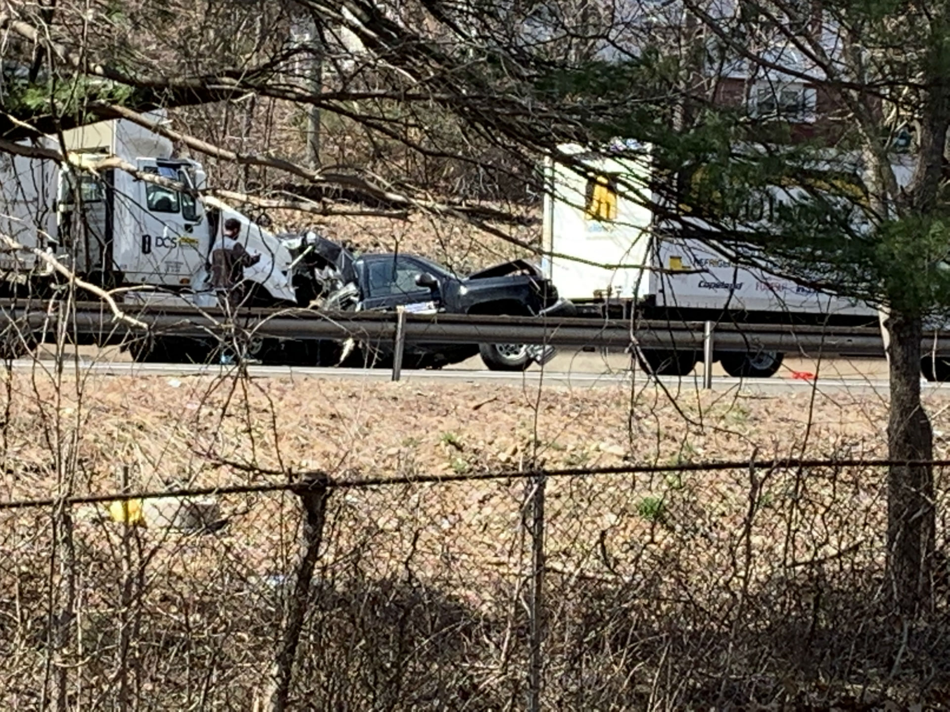Tractor trailer truck crash closes Route 8 northbound in Seymour