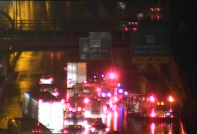 Tractor-Trailer accident on I-95 South between exits 46 and 44, two