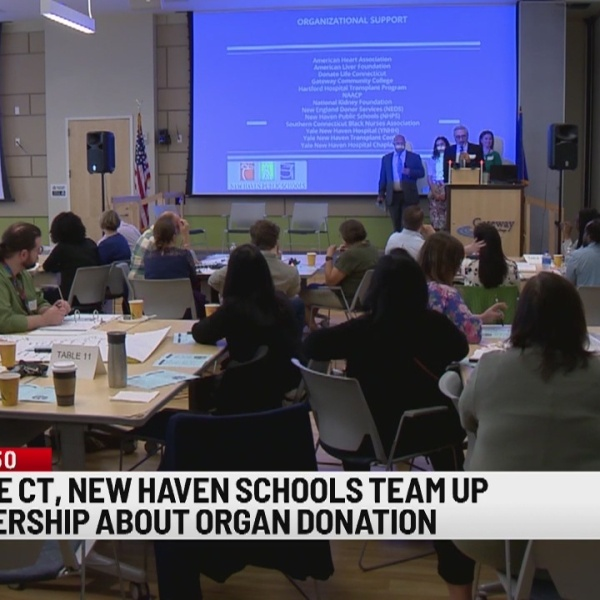 Donate Life CT partners with New Haven Public Schools to teach students about organ donations