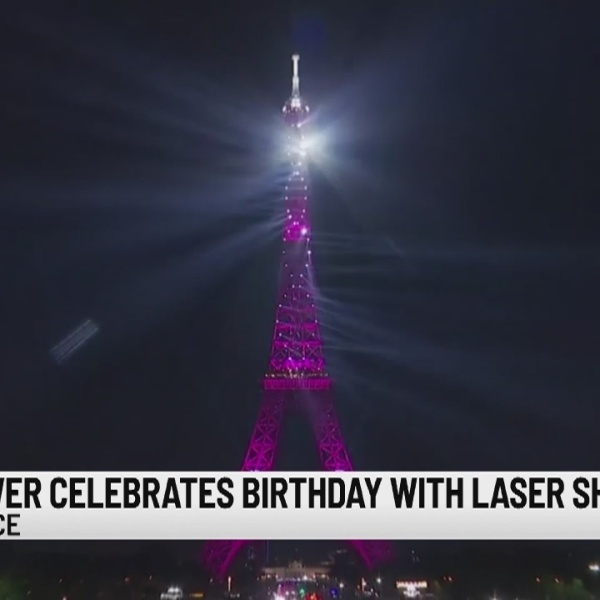 Happy 130th birthday, Eiffel Tower: Laser show for Iron Lady