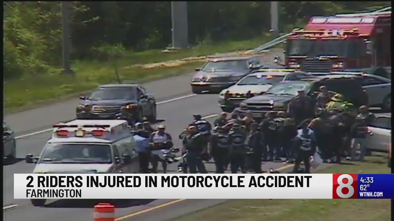 Motorcycle accident closes lanes on I-84 Eastbound in Farmington