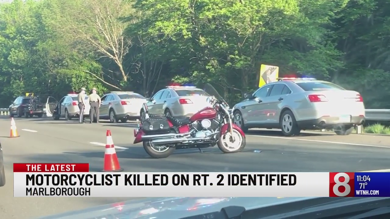 Motorcycle crash closes Route 2 Eastbound in Marlborough