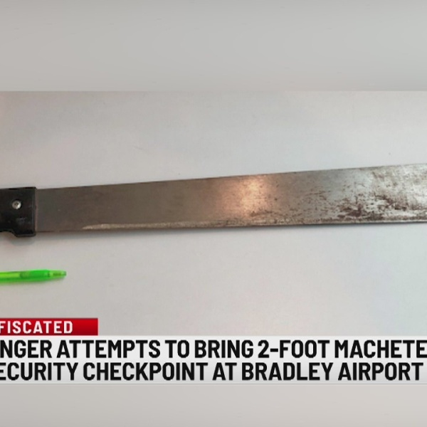 TSA: passenger attempts to bring 2-foot machete through security checkpoint at Bradley Airport