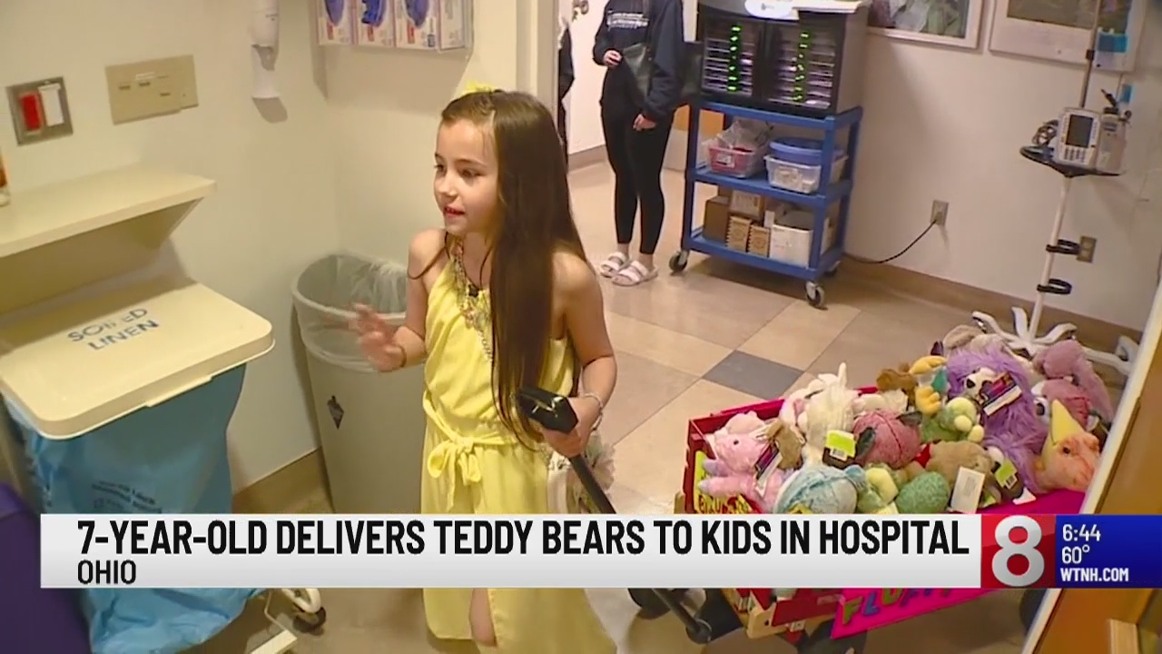 Hospitals can be a scary place for kids, something a 7-year-old girl in Ohio knows all too well.