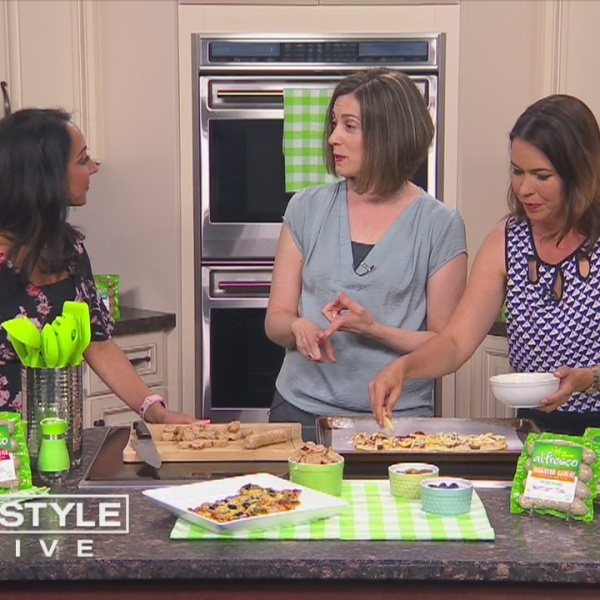 In The Kitchen: Julie Kieras makes pizza using Al Fresco chicken sausage
