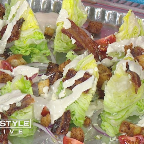 In The Kitchen: Traveling Epicurean cooks up roasted blue cheese dressing with candied bacon