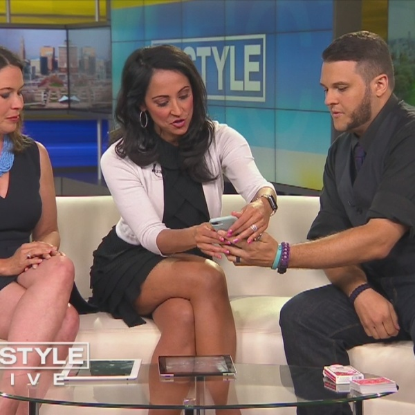 Magician Chris Lengyel performs on CT Style