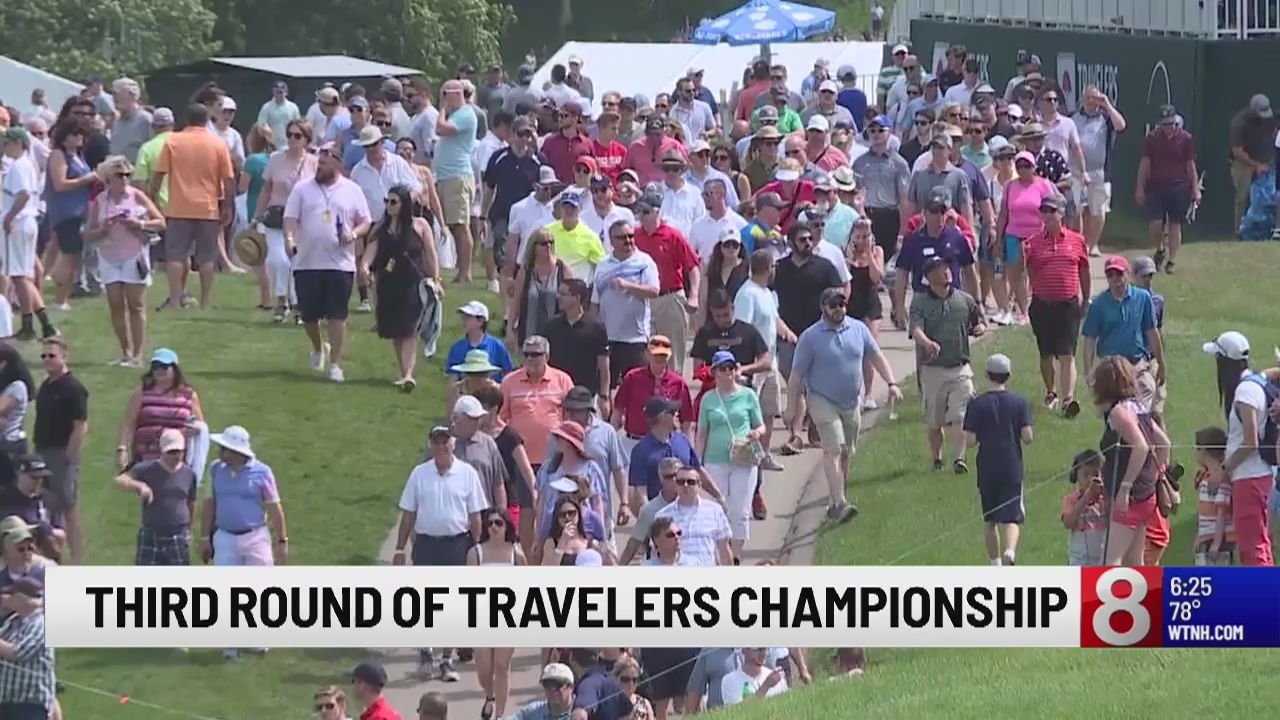 Travelers Championship: Round three brings fun in the sun for players and fans