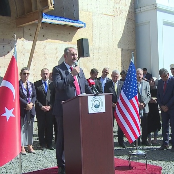 Turkey's Minister of Justice visits New Haven mosque one month after fire
