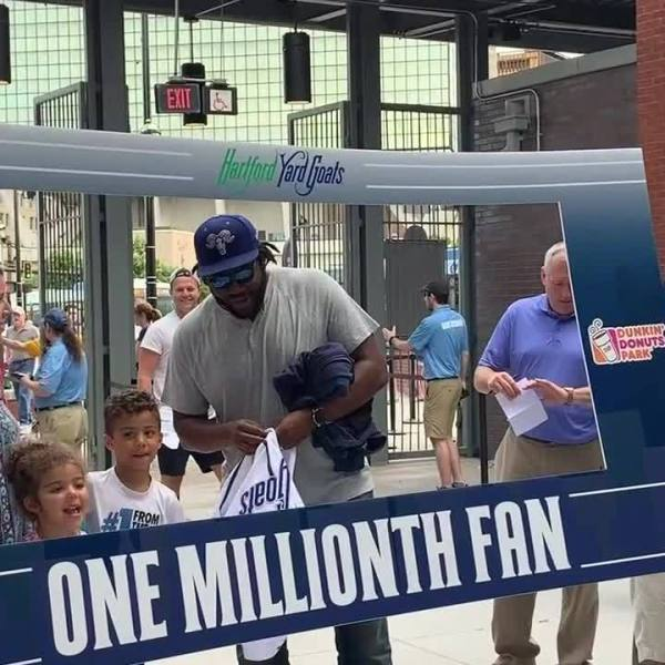 Yard Goats welcome one millionth fan