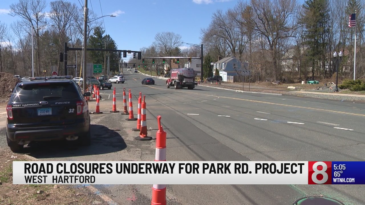 Road closures underway for Park Road project in West Hartford