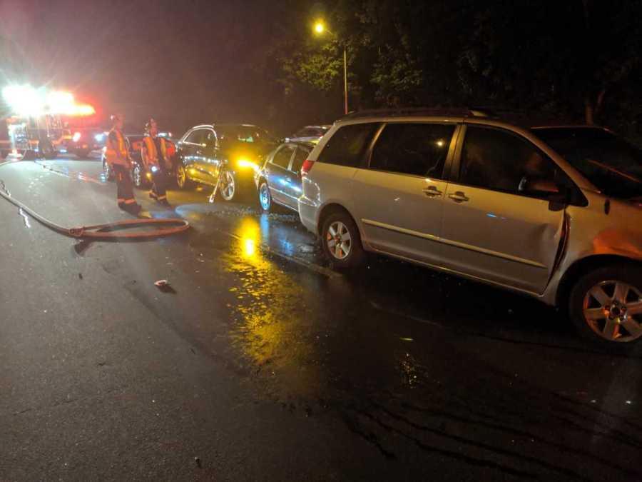 Multi-car crash leaves 8 injured in Norwalk