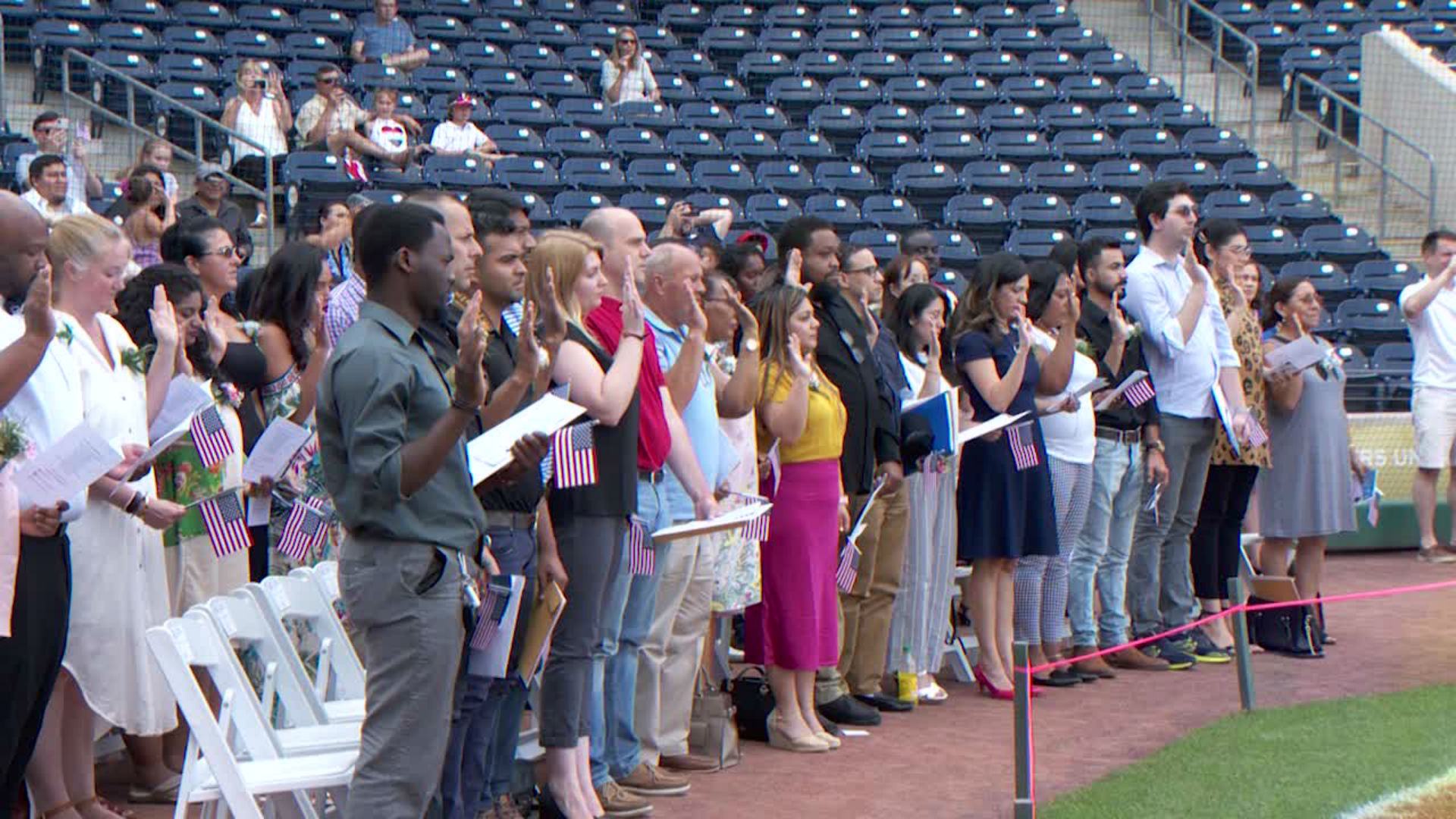 Yard Goats host on-field naturalization ceremony | WTNH com
