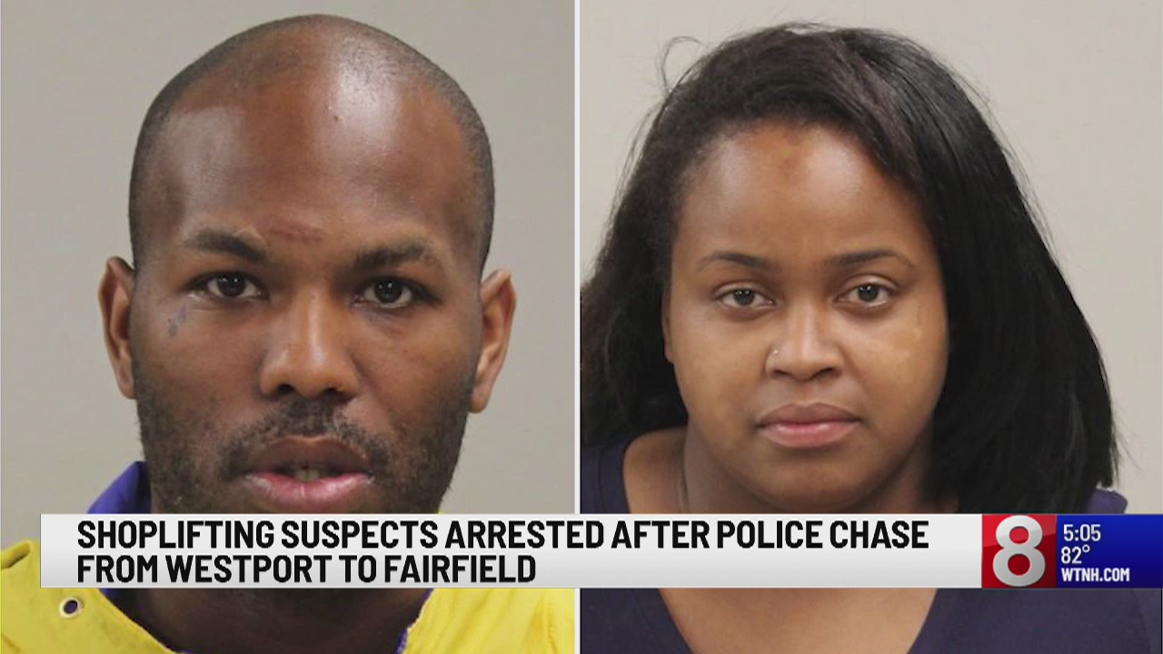 Shoplifting suspects arrested after police chase in Westport