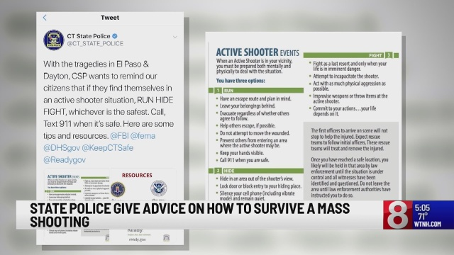 Connecticut State Police give advice on how to survive a
