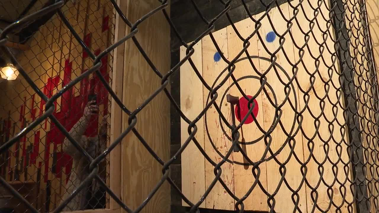 Axe throwing craze hits the Elm City