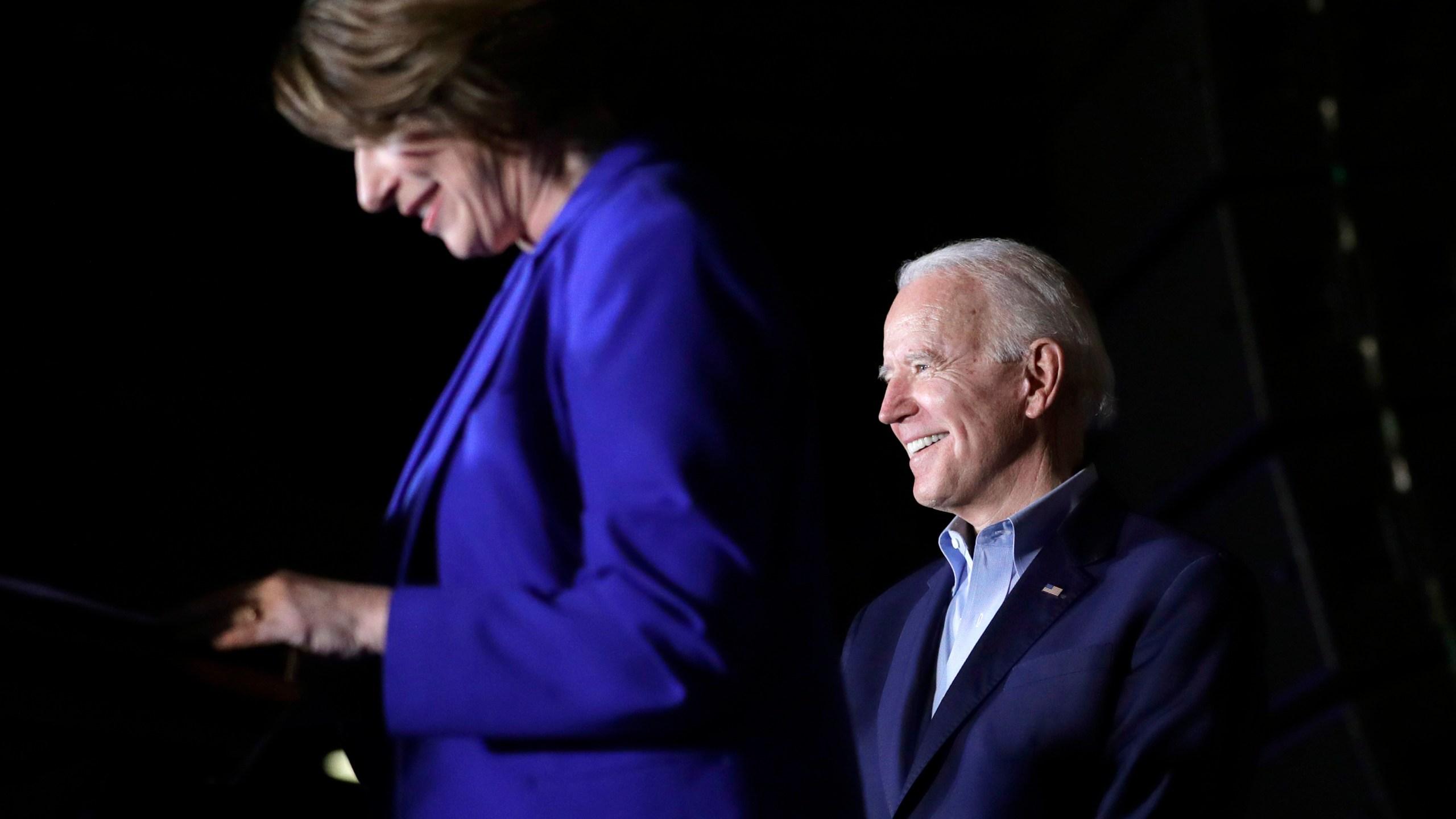 Joe Biden, Amy Klobuchar