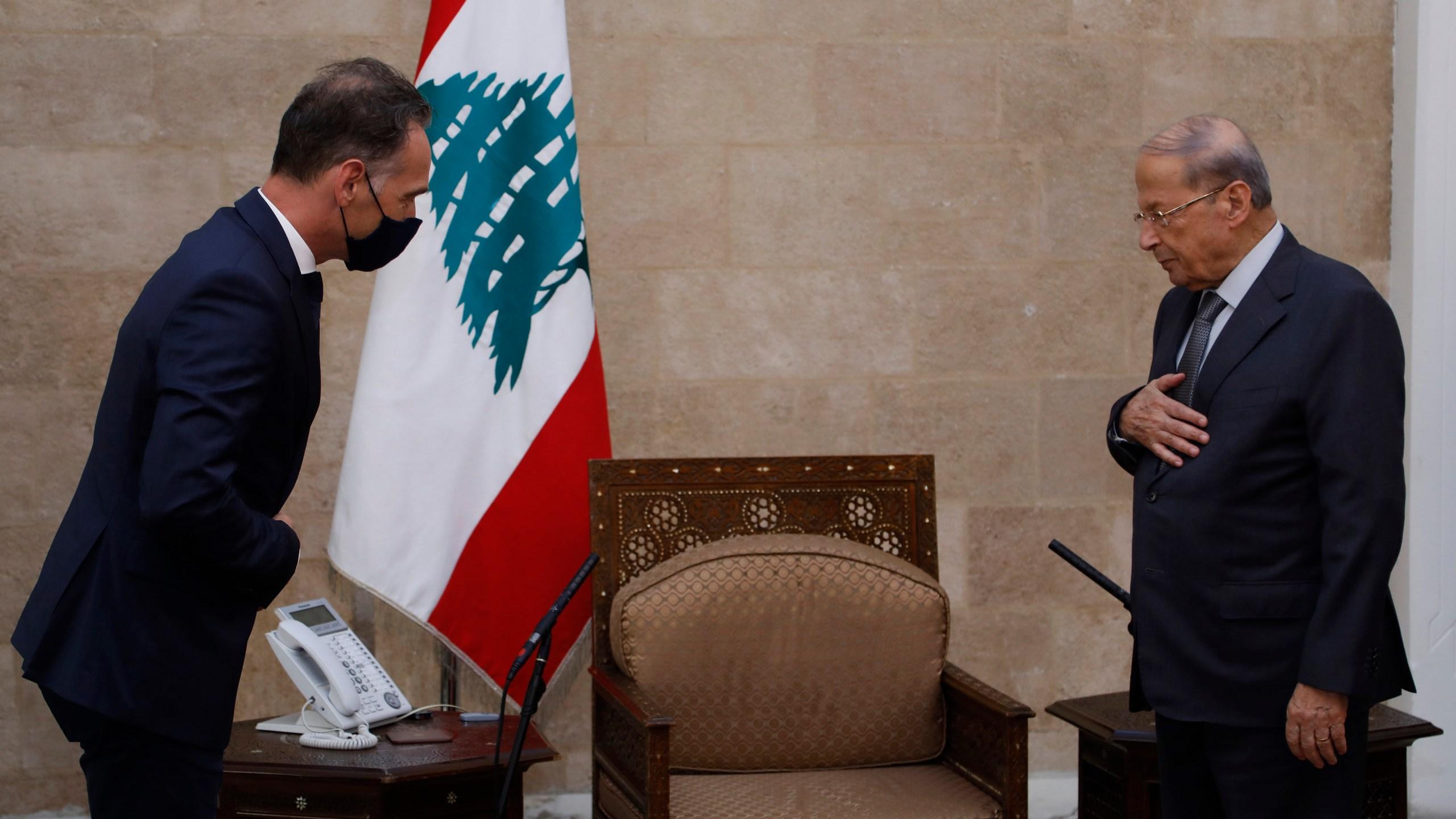 Michel Aoun, Heiko Maas