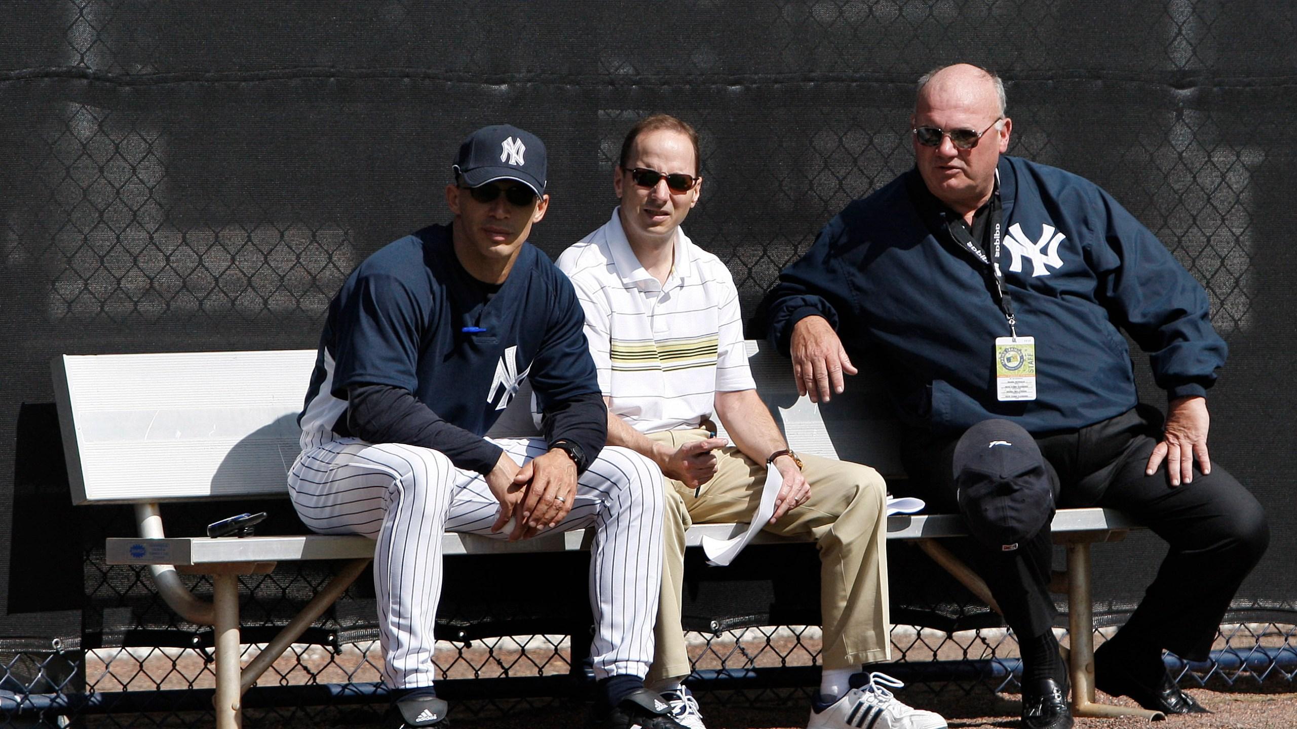 Joe Girardi, Brian Cashman, Mark Newman