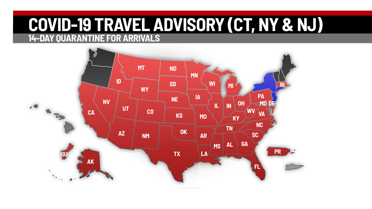 Ma Pa Ca Added To Connecticut S Travel Advisory List Quarantine Required Wwlp