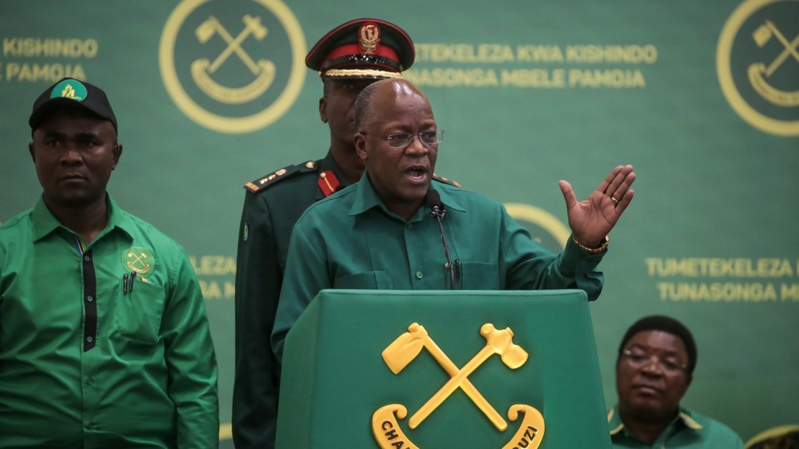 John Magufuli der Präsident von Tansania ist Tod.