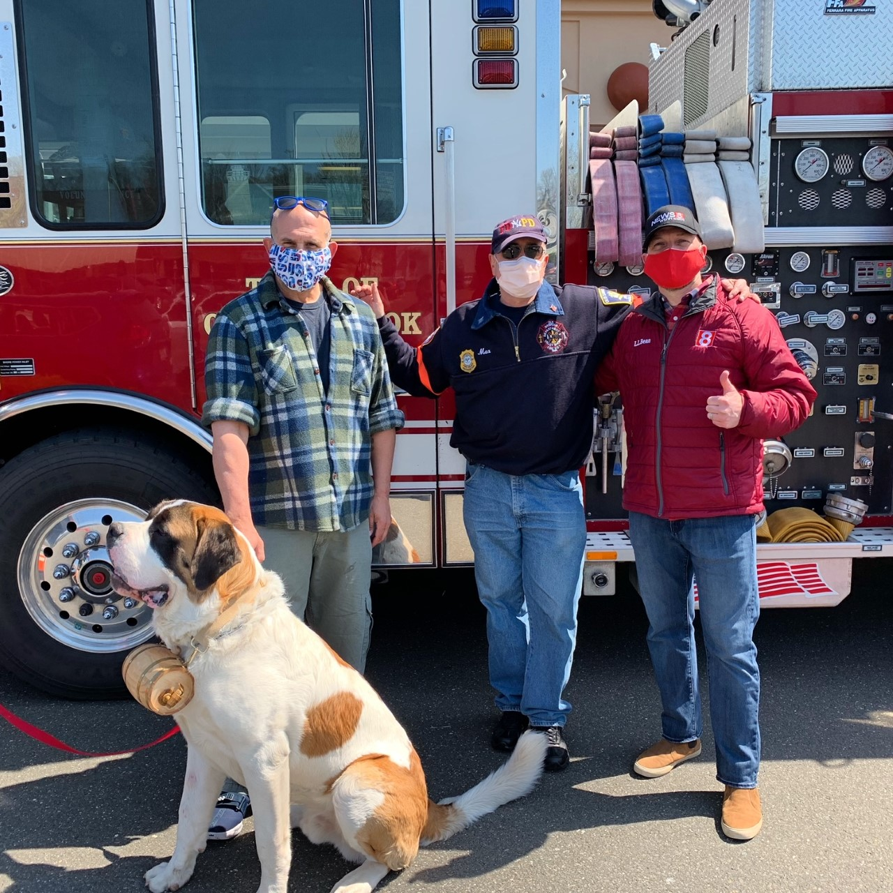 Shoreline Fire Departments Hold Annual Food Drive Saturday Gil Simmons Makes Appearance